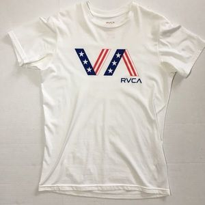 Men's RVCA American Flag T Shirt